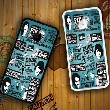 Supernatural Quote Collage F0047 HTC One S X M7 M8 M9, Samsung Galaxy Note 2 3 4 S3 S4 S5 (Mini) S6 S6 Edge