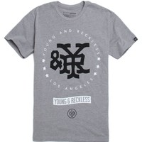 Young & Reckless Winners Circle T-Shirt - Mens Tee - Grey