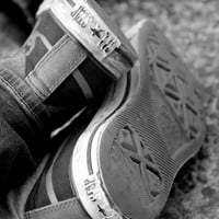 Black and White Photography - Converse Shoes - Travel Photograph - CUSTOM SIZES