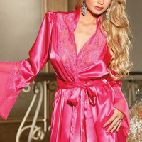 High Quality Sexy Gowns Bottom & Top Home Sleepwear [4918204676]