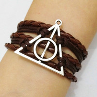 Harry Potter Bracelet Deathly Hallows by HandmadeJewelry88 on Etsy