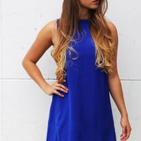 Blue In The Face Tank Dress