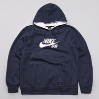 Flatspot - Nike SB Foundation Icon Hooded Sweatshirt Anthracite Heather / Smart W