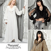 Gothic Vampire Cosplay Costume Sewing Pattern, Uncut Simplicity 2163 in Plus Sizes 14 to 22, Dressing Gown Pattern, Medieval Romance