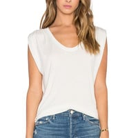 Velvet by Graham & Spencer Anaya Modal Knit Scoop Neck Tank in Oat