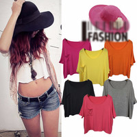Short Sleeve with Mini Pocket Cropped Top