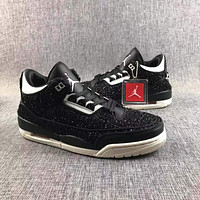 Vogue x Air Jordan 3 AWOK Black Sneaker Shoes 40-47.5