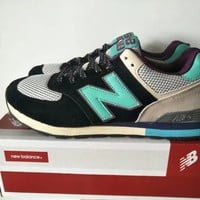 """""""New Balance 574"""" Sport Casual Unisex N Words Multicolor Retro Sneakers Couple Running Shoes"""
