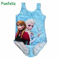 Girls Swimwear Elsa Anna Swimming Costume Character swimwear for Girl Kids Swimsuit Girls bathing suits