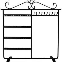 Jewelry Holder, Jewelry Stand for Earrings / Necklaces / Brecelets by ARADTM (BLACK)