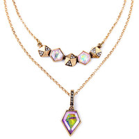 Layered Up Gems Delicate Necklace