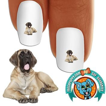 English Mastiff So Sleepy Nail Art Decals (Now! 50% more FREE)
