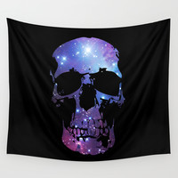 The Cosmic Skull Wall Tapestry by Kramcox