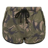 Camouflage Print Runner Shorts - New In This Week - New In