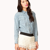 Tiered Macremaé Shorts   FOREVER 21 - 2030535339