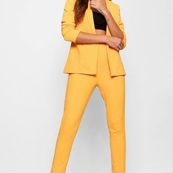 Crepe Fitted Suit   Boohoo
