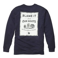 Our Roots Long Sleeve Tee in Navy by Southern Proper