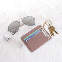 Leather Wallet Keychain