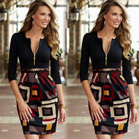 New Women's Summer Sexy Floral Casual Party Evening Cocktail Short Mini Dress = 1956850436
