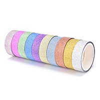 Glitter Washi Tape 10-Pack in Rainbow