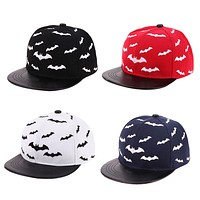 Baby Baseball Cap Boys Girls Snap back Cap Kids Hip hop Hats Children Bat Print Sun Hat
