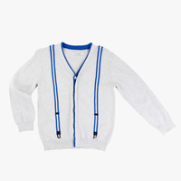 Billybandit Jacquard Suspender Cardigan - V25031/117 - FINAL SALE