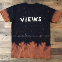 Views Bleached Tee Shirt Drake Views from the 6 Concert Tee Merch OVO