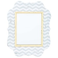 Ornate Gray, White & Yellow Chevron Mirror | Shop Hobby Lobby