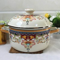 Cute Style High Quality Boutique Enamel Pot Milk Pot Cooker Pot Small Hot Pot Electromagnetic Oven Gas General Free Shipping