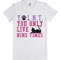 You Only Live Nine Times-Female White T-Shirt