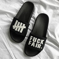 Undefeated Woman Men Fashion Slipper Flats Shoes