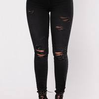 Here Comes The Love Jeans - Black