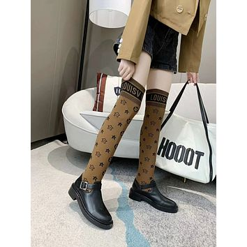 lv louis vuitton trending womens men leather side zip lace up ankle boots shoes high boots 211