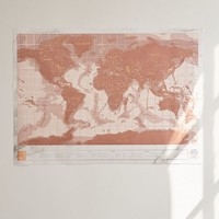 Rose Gold Scratch-Off World Map   Urban Outfitters