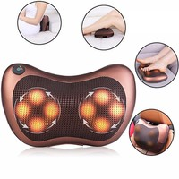 Electric Car Massage LED Pillow Home Massager Cushion Body Neck Back Shoulder Leg Home Shiatsu Massage Pillow Health Care