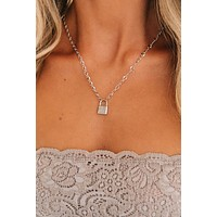 By My Side Charm Necklace (Silver)