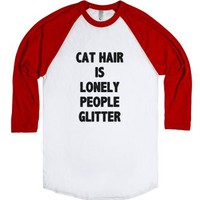 Lonely People Glitter-Unisex White/Red T-Shirt