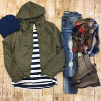 Quilted Fur Lined Jacket
