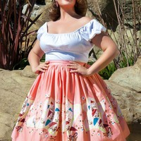 Jenny Skirt in Mary Blair Umbrellas Print - Plus Size