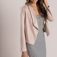 Kasey Blush Suede Jacket