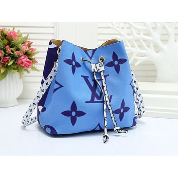 LV hot selling lady's casual shopping bag fashion printed patchwork color shoulder bag #4
