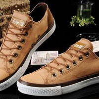 Converse Shoes Brown Chuck Taylor Vampire Mens/Womens Canvas & Leather Sneakers Low