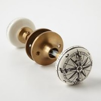 Compass Doorknob by Anthropologie in Ivory Size: One Size Knobs
