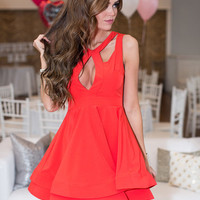 Cupid's Crush Dress Red