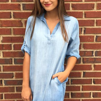 Casey Denim Dress - Denim