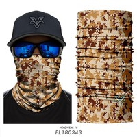 3D Headwear Quick-Dry Camping Camouflage Neck Warmer Windproof bandanas Face Mask  Fishing Scarf Hunting  For men Headband