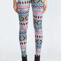 Tasha Bright Aztec Leggings