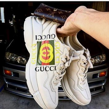 GUCCI all-match fashion old shoes for men and women