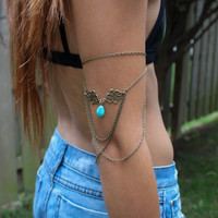 Celestial Turquoise Goddess Arm Chain