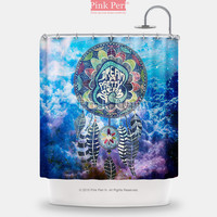 Dream Catcher on Nebula Galaxy Cloud Shower Curtain Home & Living 067